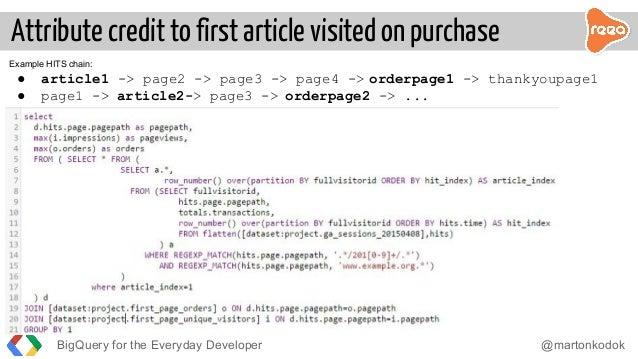 Google BigQuery for Everyday Developer