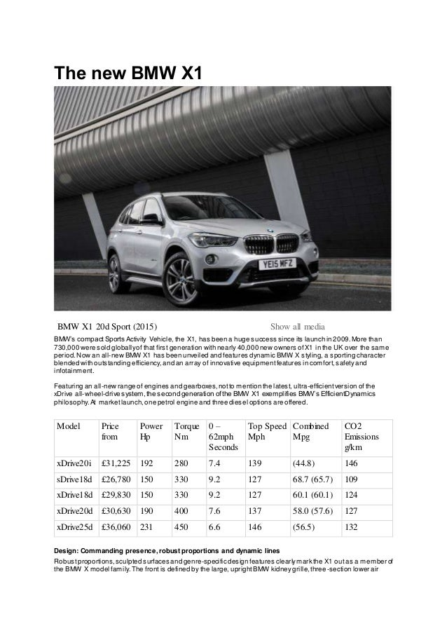 new car release 2015 uk2016 bmw x1 uk press release