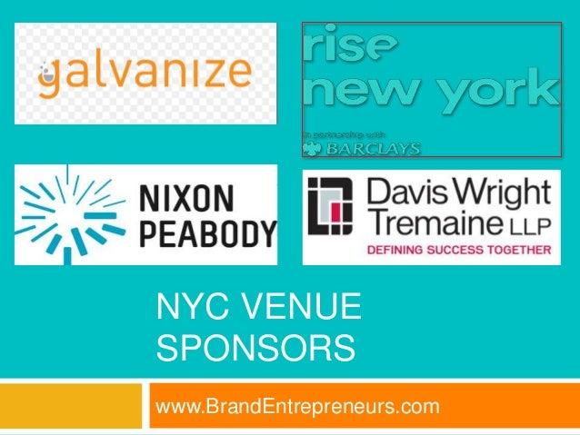 2016 BrandEntrepreneurs com Business Bootcamps