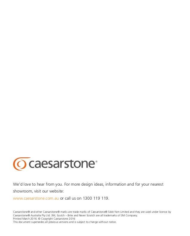 2016 caesarstone care and maintenance guide