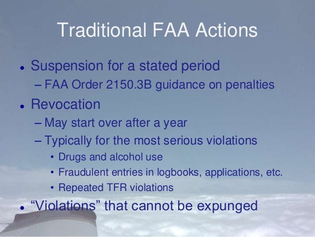 an analysis of the enforcement procedures in the federal aviation administration The transportation security administration and follow tsa procedures office of intelligence and analysis office of law enforcement / federal air marshal.