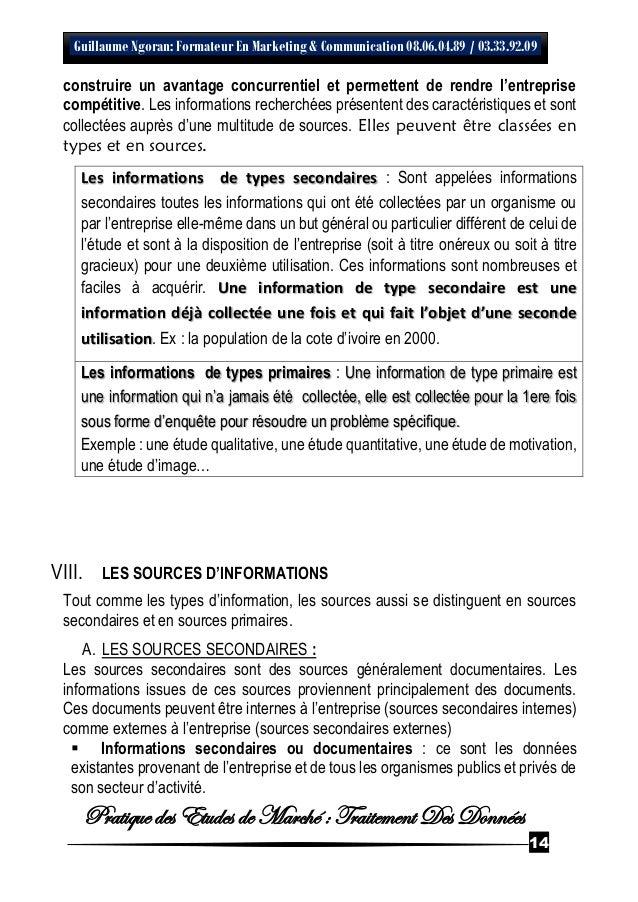 2016 Cours De Traitement Des Donnees En Enquete Sphinx Etude De Marc