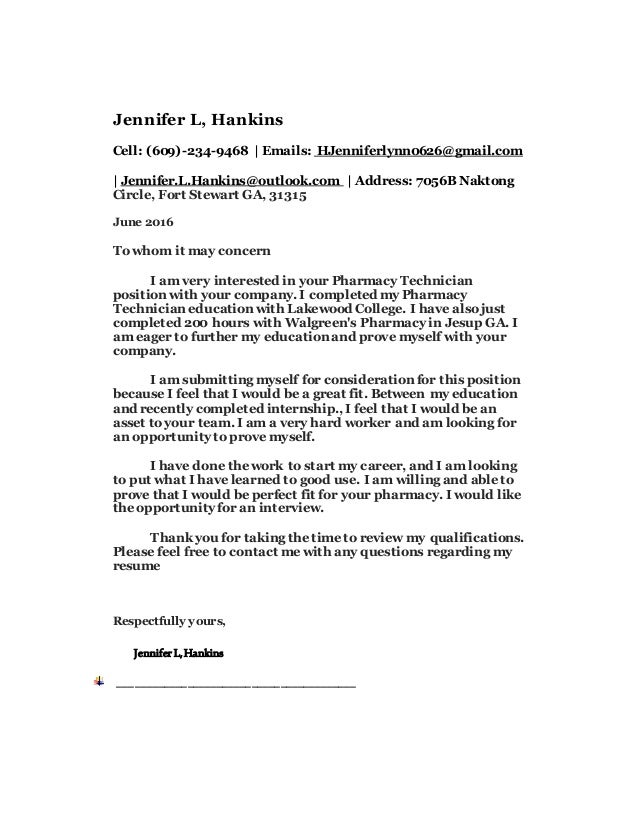 2016 cover letter And Updated resume