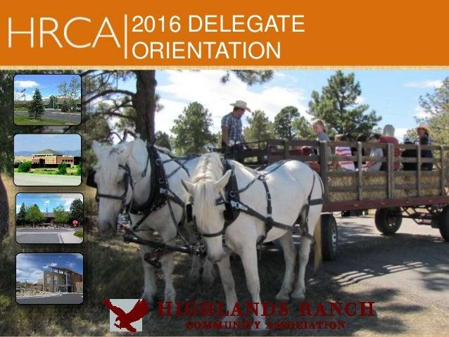 2016 DELEGATE ORIENTATION