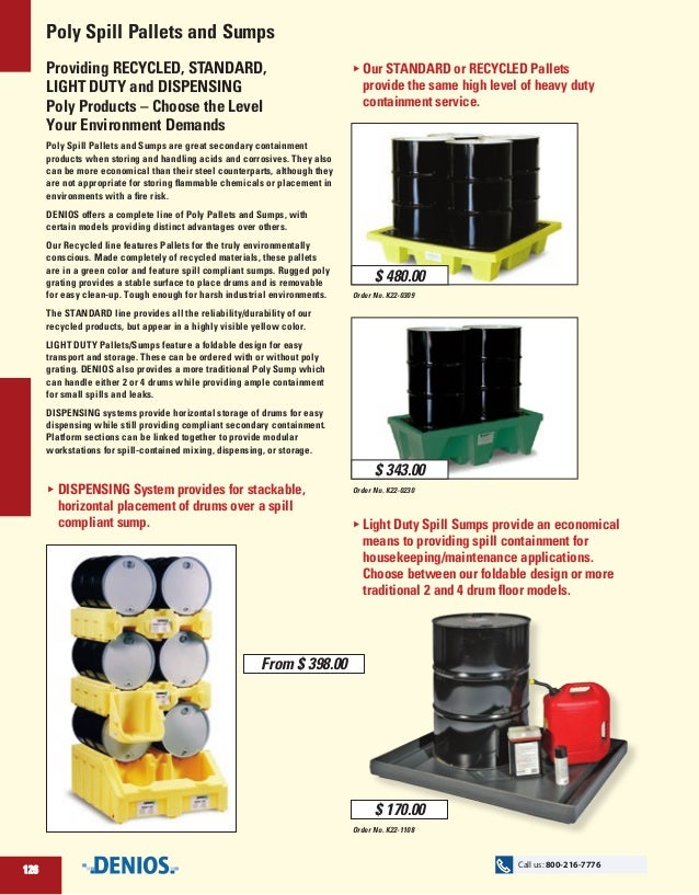 Poly Spill Pallets and Sumps Providing RECYCLED, STANDARD, LIGHT DUTY and DISPENSING Poly Products – Choose the Level Your...