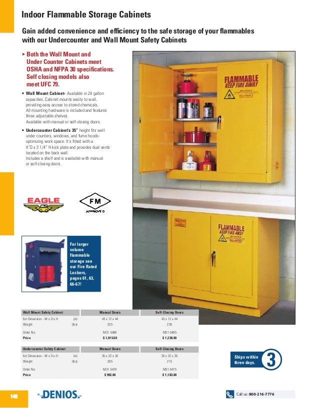 Indoor Flammable Storage Cabinets - DENIOS US
