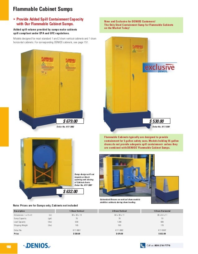 flammable cabinet sumps new and exclusive for denios customers the only steel containment sump for