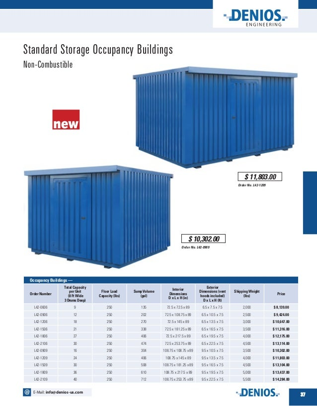 Introduction To Chemical Storage Occupancy Buildings