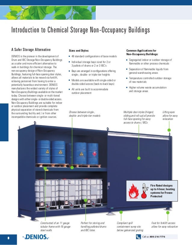 Introduction To Chemical Storage Non Occupancy Buildings