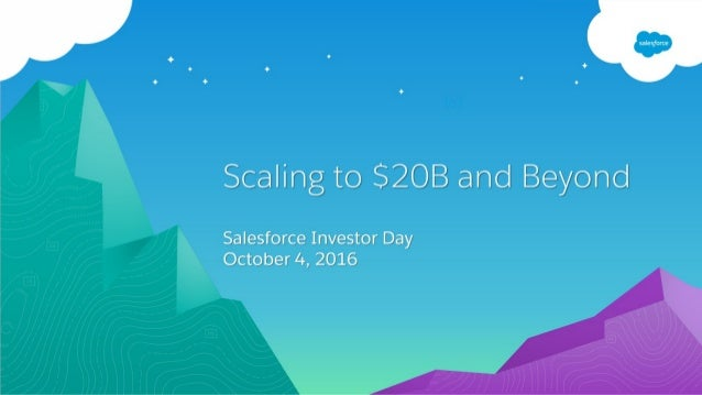 Dreamforce 2016 Investor Day