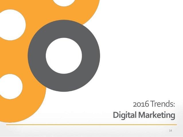 2016Trends: DigitalMarketing 14