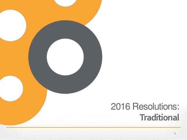 2016 Resolutions: Traditional 4