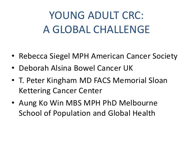 The Second Annual Early Age Onset Colorectal Cancer Summit Slide 2