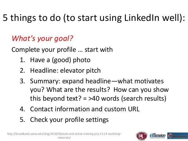 E-Commerce Workshops LinkedIN 101 Slide 3