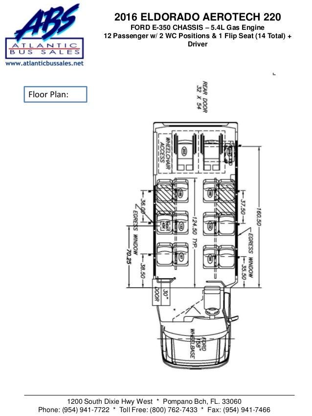 2016 Eldorado Aerotech 12 Passenger & 2 Wheelchair