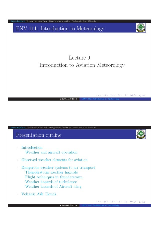 Introduction to Aviation Meteorology