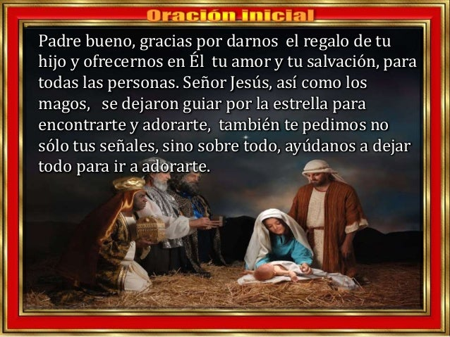 Padre bueno, gracias por darnos el regalo de tu hijo y ofrecernos en Él tu amor y tu salvación, para todas las personas. S...