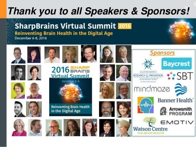 Expo Day: MindMaze, SharpBrains, Watson Centre for Brain Health