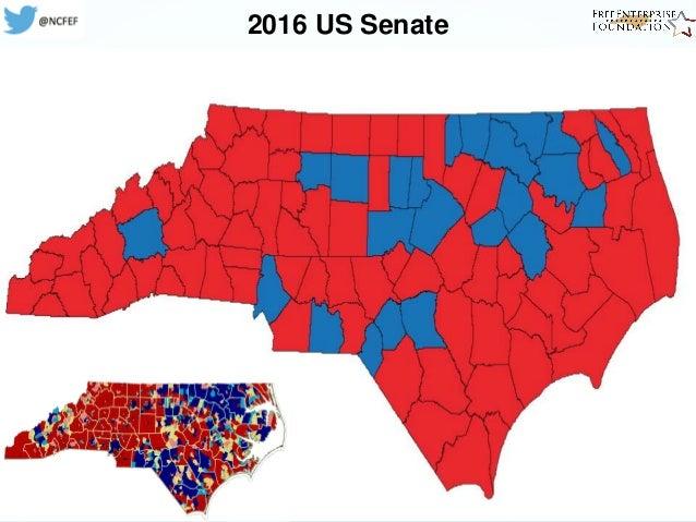 NC FreeEnterprise Foundation Presentation On Election - 2016 map of us senate