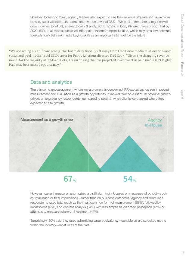 18 Social media measurement is equally unsophisticated. The most common metric reported by agency and client-side responde...