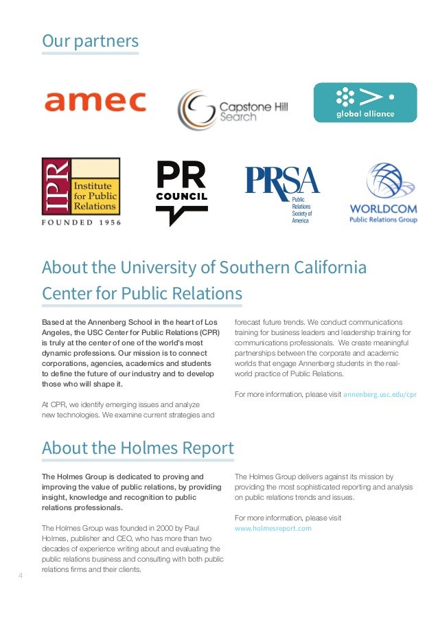 GlobalCommunicationsReport–Foreword#gcr16 5 Foreword The mission of the USC Center for Public Relations at the Annenbe...