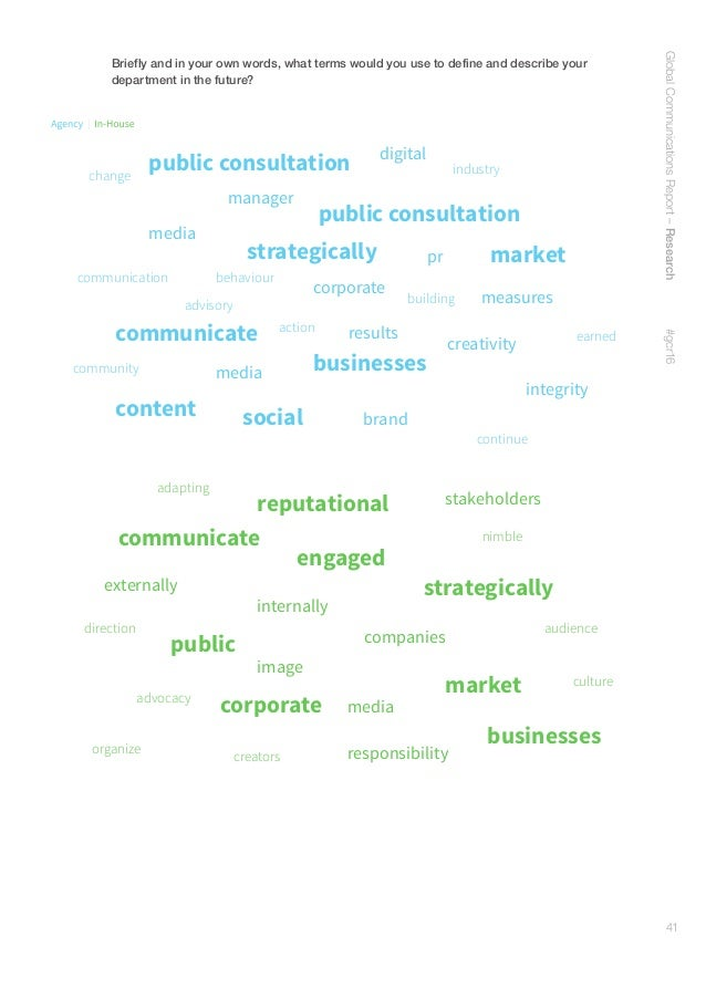 42 Methodology The annual Global Communications Report is conducted by the University of Southern California's Center for ...