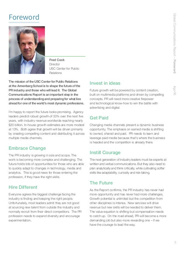 6 Foreword In recent years, the role of the chief communications officer has been primarily focused on protecting reputati...