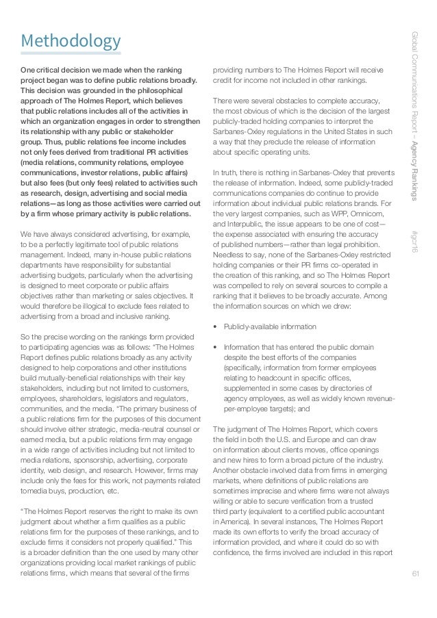 62 Holmes Report Paul Holmes Founder  CEO pholmes@holmesreport.com Arun Sudhaman President  Editor-in-Chief arun@holmesrep...