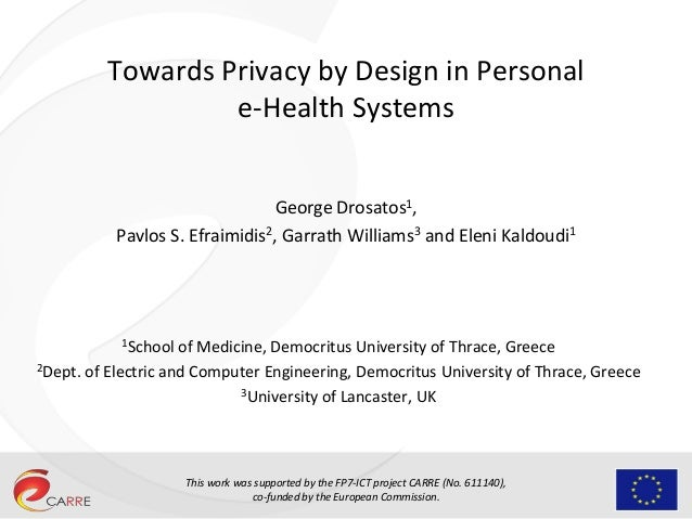 This work was supported by the FP7-ICT project CARRE (No. 611140), co-funded by the European Commission. Towards Privacy b...