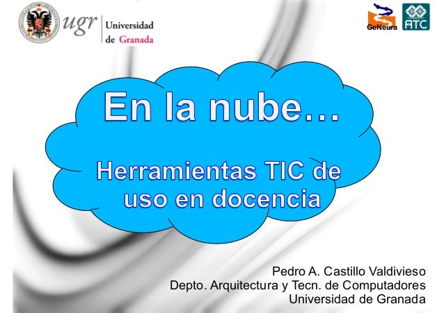 1 Pedro A. Castillo Valdivieso Depto. Arquitectura y Tecn. de Computadores Universidad de Granada GeNeura
