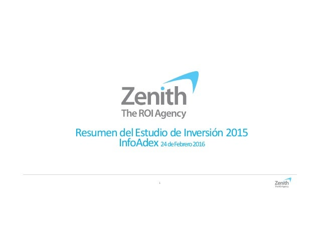 1 ResumendelEstudio deInversión2015 InfoAdex 24deFebrero2016