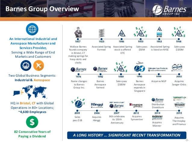 barnes group inc investor overview april 2016barnes group