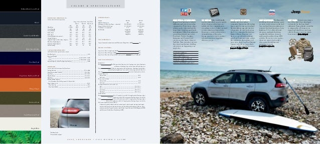 2016 Jeep Cherokee Vehicle Brochure