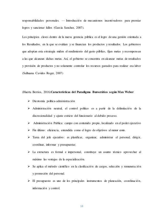 18 responsabilidades personales. — Introducción de mecanismos incentivadores para premiar logros y sancionar fallos (Garci...
