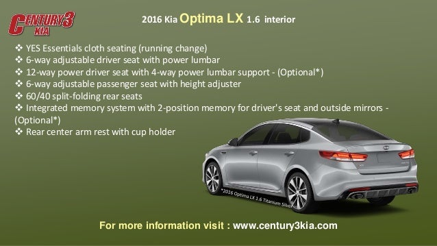 2016 kia optima lx 1 6 century3kia. Black Bedroom Furniture Sets. Home Design Ideas