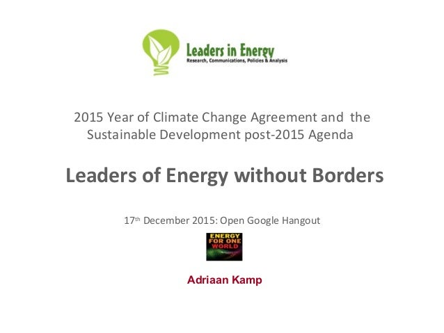 2016 leaders of energy without borders usa group 2015 year of climate change agreement and the sustainable development post 2015 agenda leaders of malvernweather Images