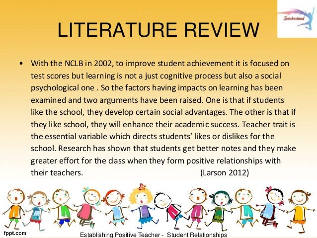 Literature Review   Akuttujuuk The New Age  No Child Left Behind  NCLB  By Don Bertucci  Chaffey