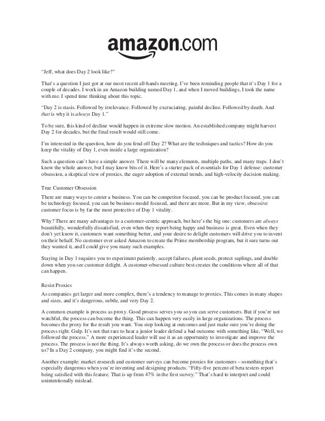 amazon letter to shareholders jeff bezos 2016 letter to shareholders 10492 | jeff bezos 2016 letter to amazon shareholders 1 638