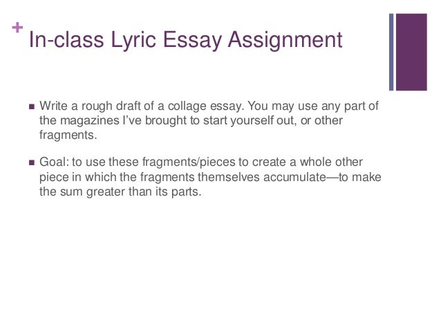 collage essay