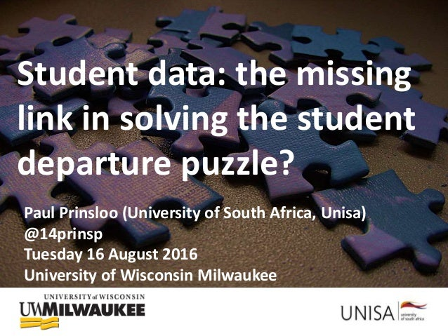 Using student data: (Not) solving the student departure puzzle? Student data: the missing link in solving the student depa...