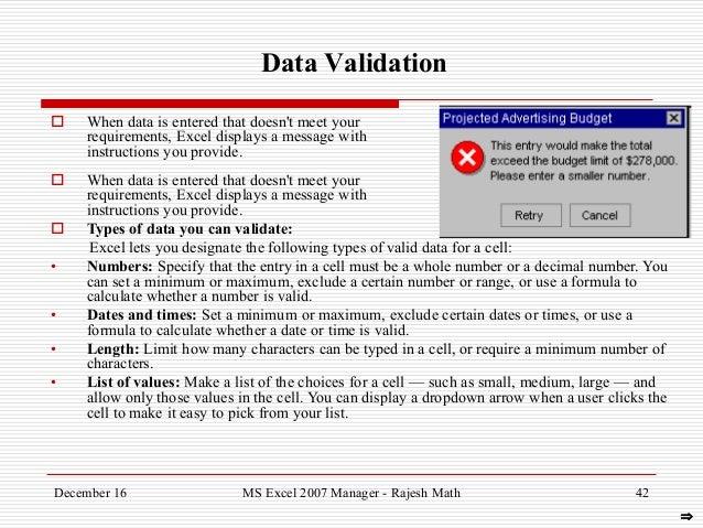 Data Analytics Using MS Excel