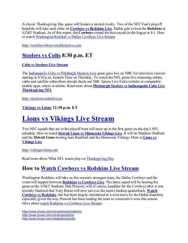 25a63452a22 ... Washington Redskin  3. A classic Thanksgiving Day game ...