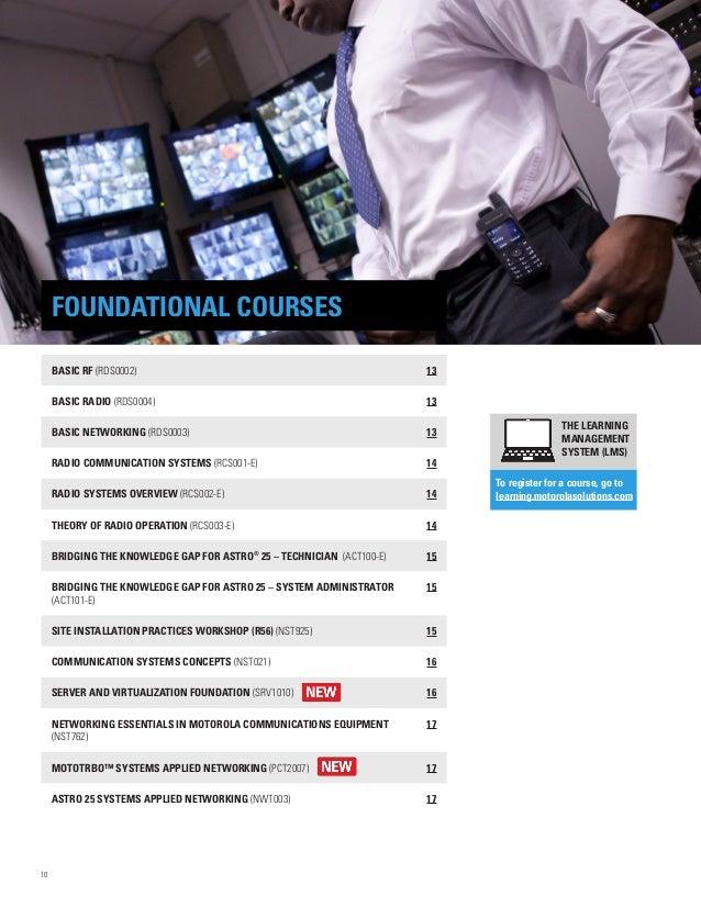 Motorola Solutions 2016 North America Training Catalog