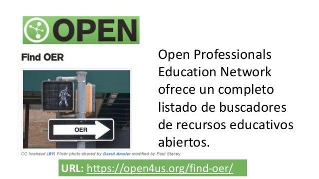 Ejemplo de repositorio intitucional hispanohablante URL: http://www.temoa.info/es Útil como fuente de material para cursos...