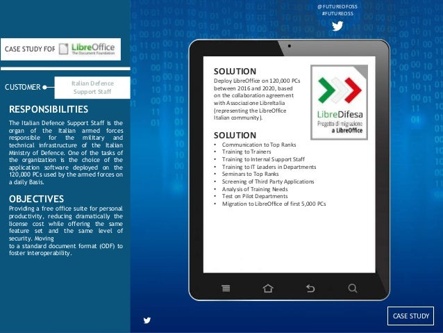 CASE STUDY CUSTOMER CASE STUDY FOR The Italian Defence Support Staff is the organ of the Italian armed forces responsible ...