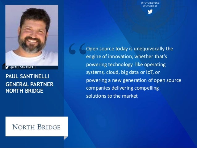 @FUTUREOFOSS #FUTUREOSS Open source today is unequivocally the engine of innovation; whether that's powering technology li...