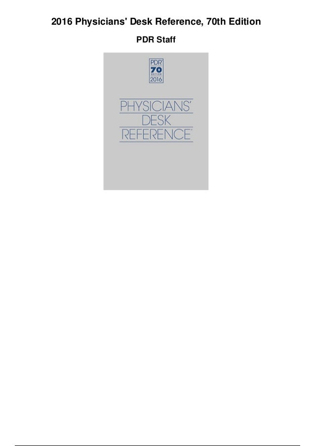 2015 Physicians Desk Reference 69th Edition