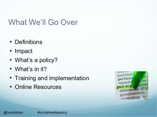 #socialmediapolicy at #PowerToolsHOU Slide 3