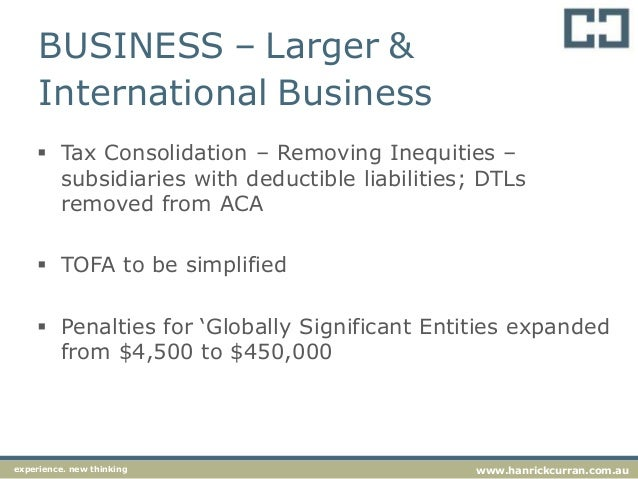 aca simplified business planning taxation