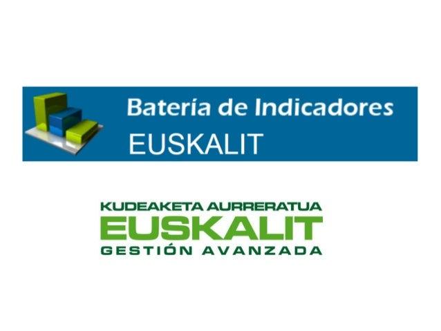 1. ¿Qué es la Batería de indicadores? • Batería de Indicadores es una herramienta, ideada por Euskalit que facilita la com...